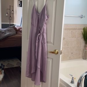 NWT Abercrombie satin wrap midi dress